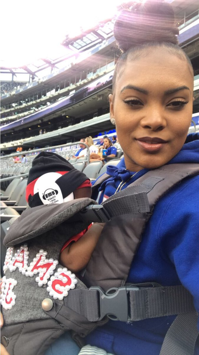 "Damon Harrison on Twitter ""The wife & the little one at his first"