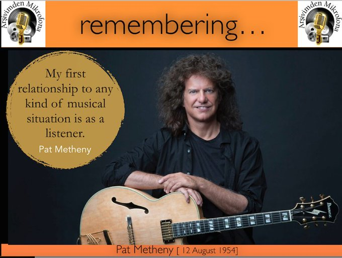 Happy birthday to Pat Metheny Born on this day in 1954
