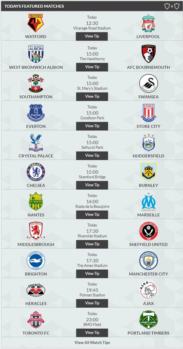 Today&#39;s Previews!  #PremierLeague #Championship #SPL #Ligue1 #Eredivisie #L1 #L2 #MLS #Superliga  Read HERE   http://www. freesupertips.co.uk/previews/  &nbsp;  <br>http://pic.twitter.com/ACoegKK26b