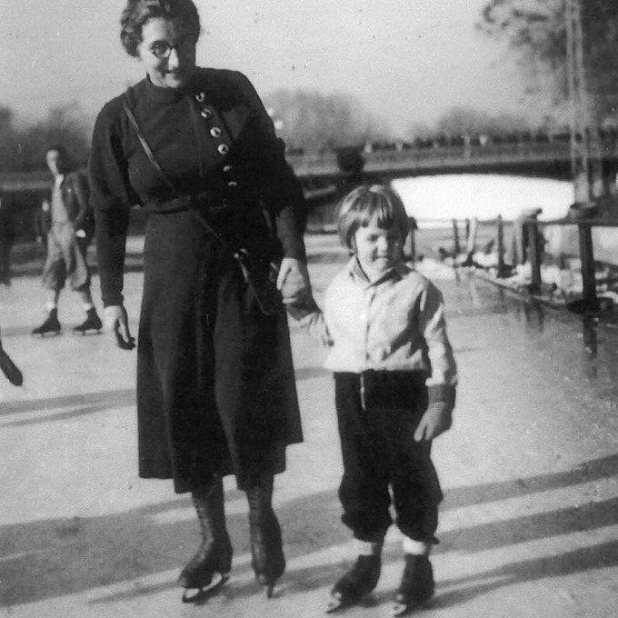 Happy birthday, George Soros! Skating with his mother, Erzebet, in Budapest, Hungary, 1934.