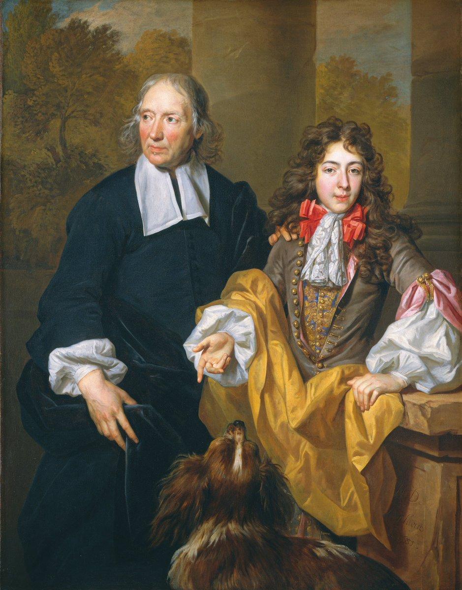 Nicolas de #Largillierre -  portrait of a young man and his tutor (1685) National Gallery Washington D.C.  #fineart #peinture <br>http://pic.twitter.com/7v4hP7Cbz3
