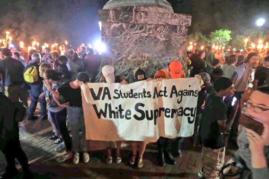 Teenagers standing up to a sea of white supremacists carrying torches.   Snowflakes my ass.