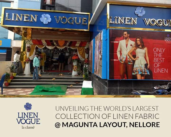 The finest linen elegance and sheer finesse of #LinenVogue is now at #Nellore. <br>http://pic.twitter.com/F5Eb4gv4ZP