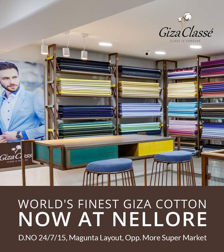 The fashion destination of #GizaClasse is now at #Nellore. <br>http://pic.twitter.com/MFZvrunNHc
