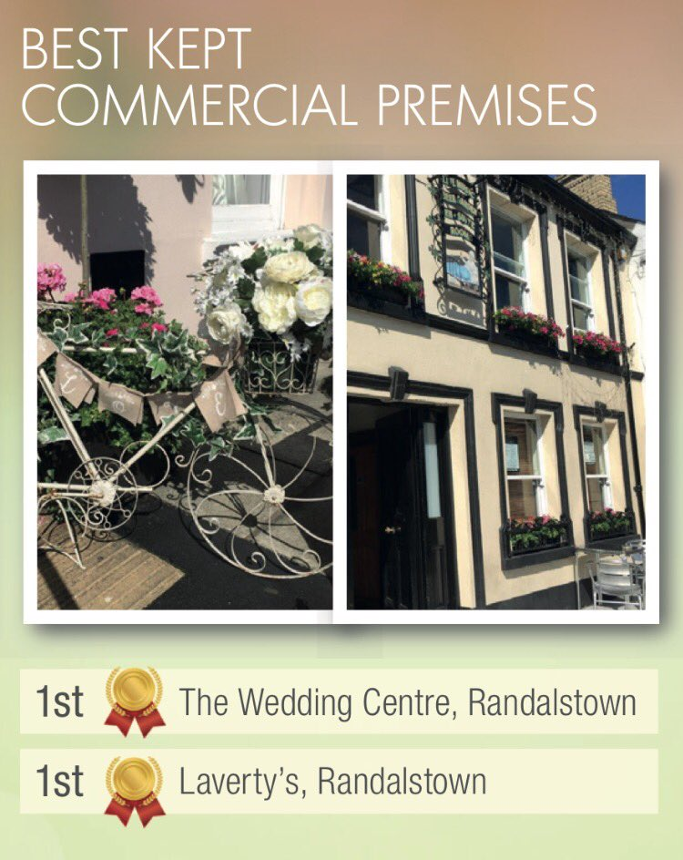 Randalstown Arches على تويتر Congratulations To Winners In Anbc Best Kept Awards Wedding Centre Lavertys Duneanepta Lane