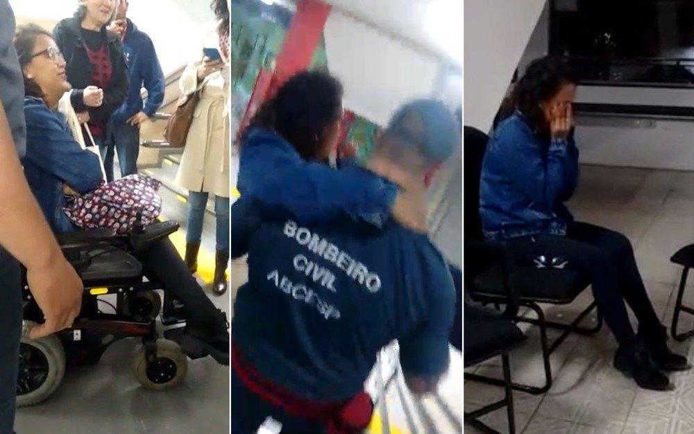 Aluna cadeirante é carregada por bombeiro para ver aula em faculdade de SP https://t.co/uRNqVa5eS4 #G1