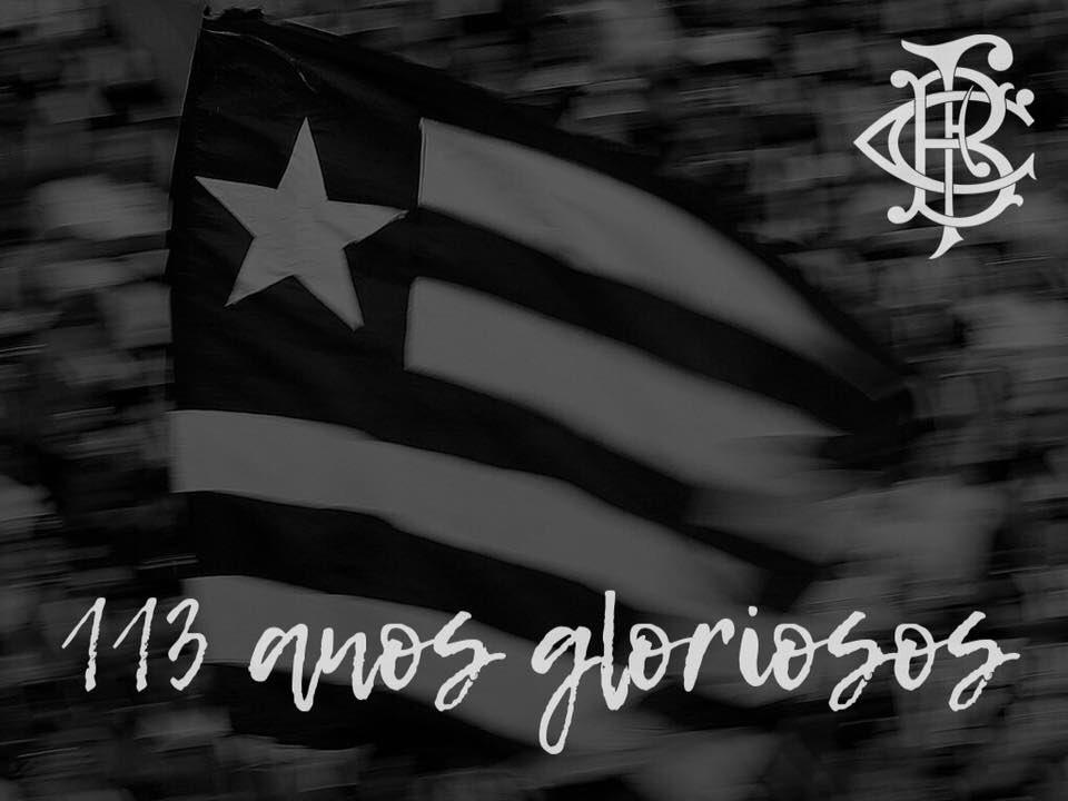 #Botafogo113Anos Parabéns ao nosso GLORIOSO, o clube que é mais tradicional, por mais um aniversário de fundação do futebol! Te amo, FOGO! 🖤