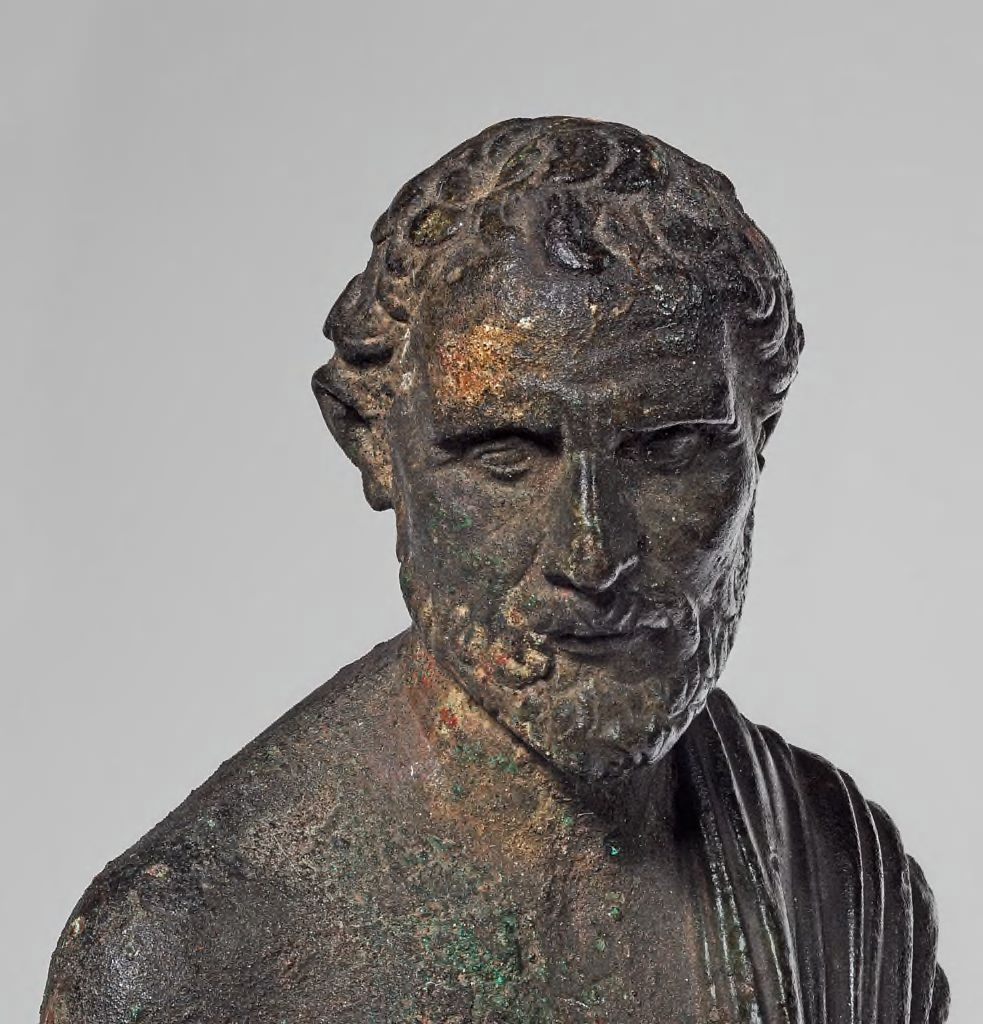 Portrait of the Greek Orator #Demosthenes. Date-1st century B.C., #Anatolia. - #Roman Imperial period @harvartmuseums<br>http://pic.twitter.com/r0B7NSED5Z
