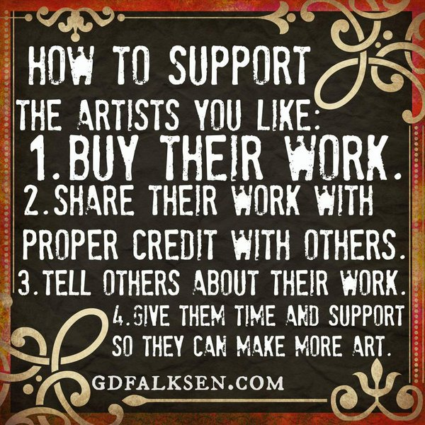How to support an artist...  #writers #writerslife #artists<br>http://pic.twitter.com/QwHu4xQdQa