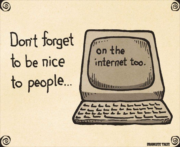Hiding behind a screen doesn&#39;t entitle you to be rude. Be #nice to people. There&#39;s enough misery in the world as it is. #OtherPeopleMatter<br>http://pic.twitter.com/d1CsEnNwfO