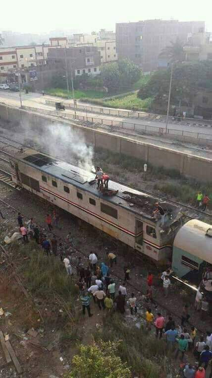 حريق قطار العياط