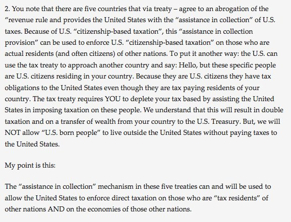 "An ""assistance in collection"" treaty with USA means that a country assists the USA to impose US tax on that country! https://t.co/sxElCTiUtT https://t.co/xR8TwQGqmq"