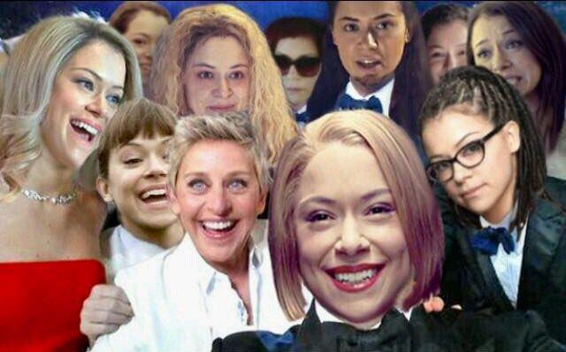Seria a selfie do ano? #FarewellOrphanBl...