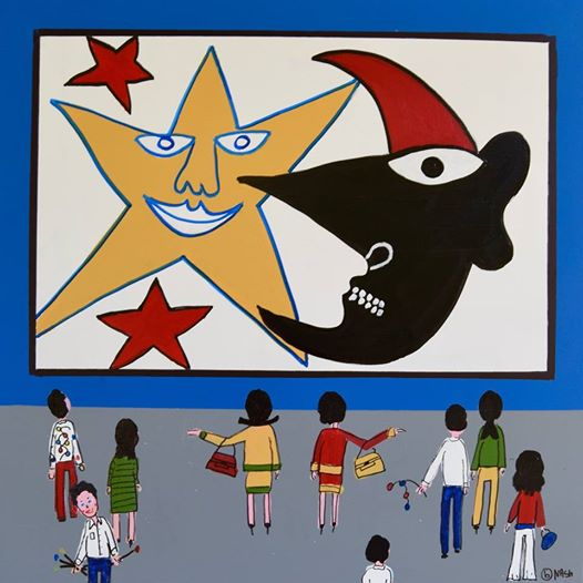 The #sun and #star #Calder #museum 36x36/acrylic  http:// BrianNash.net  &nbsp;   #popart #artforsale #modernart #contemporaryart #alexandercalder<br>http://pic.twitter.com/OP9KIHlj1p