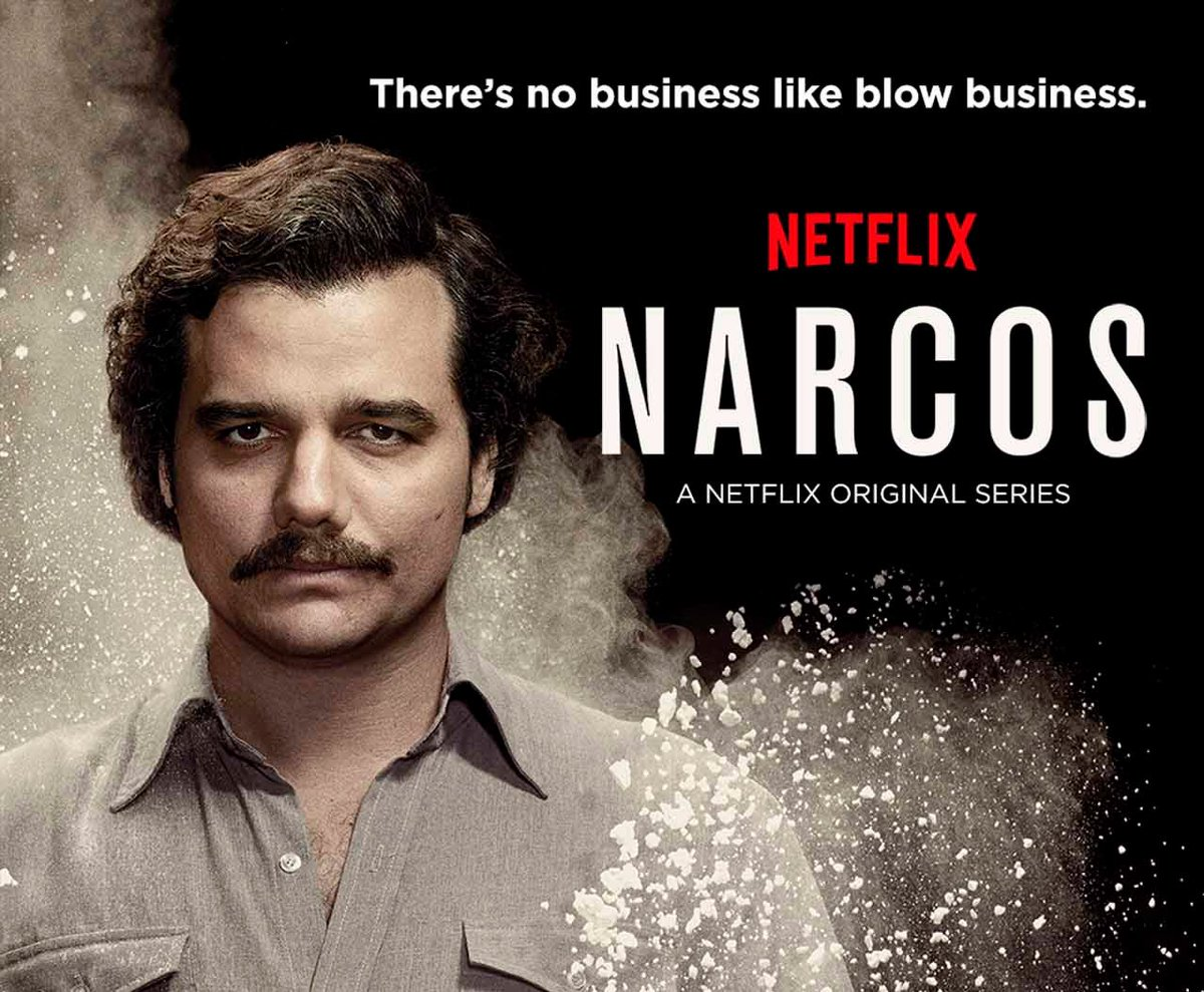 Started watching Pablo Escobar. Narcos. First episode was lit.