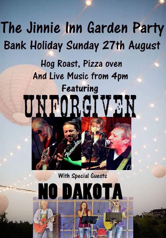 #jinnegardenparty is coming. Get down  #pizza #hogroast @jinnieinn @SwadlincoteTv @BurtonTVlocal @BurtonTVlocal with live music #Unforgiven <br>http://pic.twitter.com/WmMw91a1Zh