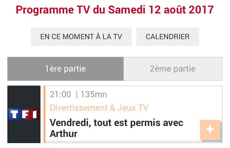 Heu @TF1 @Arthur_Officiel n'était pas disponible hier soir pour son émission ?  #TF1 #VTEP #Arthur #televisionpic.twitter.com/jjpnhovTyQ
