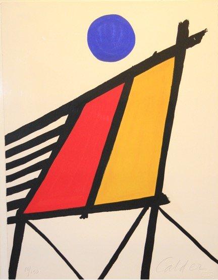 Alexander Calder &quot;Blue Sun&quot; Arches wove paper #DeanBorghiFineArt #AlexanderCalder #Calder #Arches #WovePaper #Paper #Art #FineArt #DBFineArt<br>http://pic.twitter.com/WYA0Cvm4Xi
