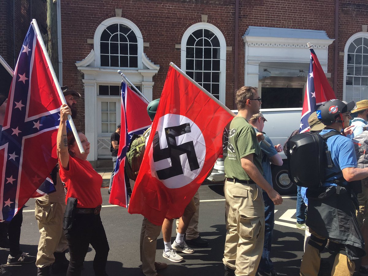 Trump condemned for silence on white supremacist 'terrorism' DHCd1o6UQAAhwtS