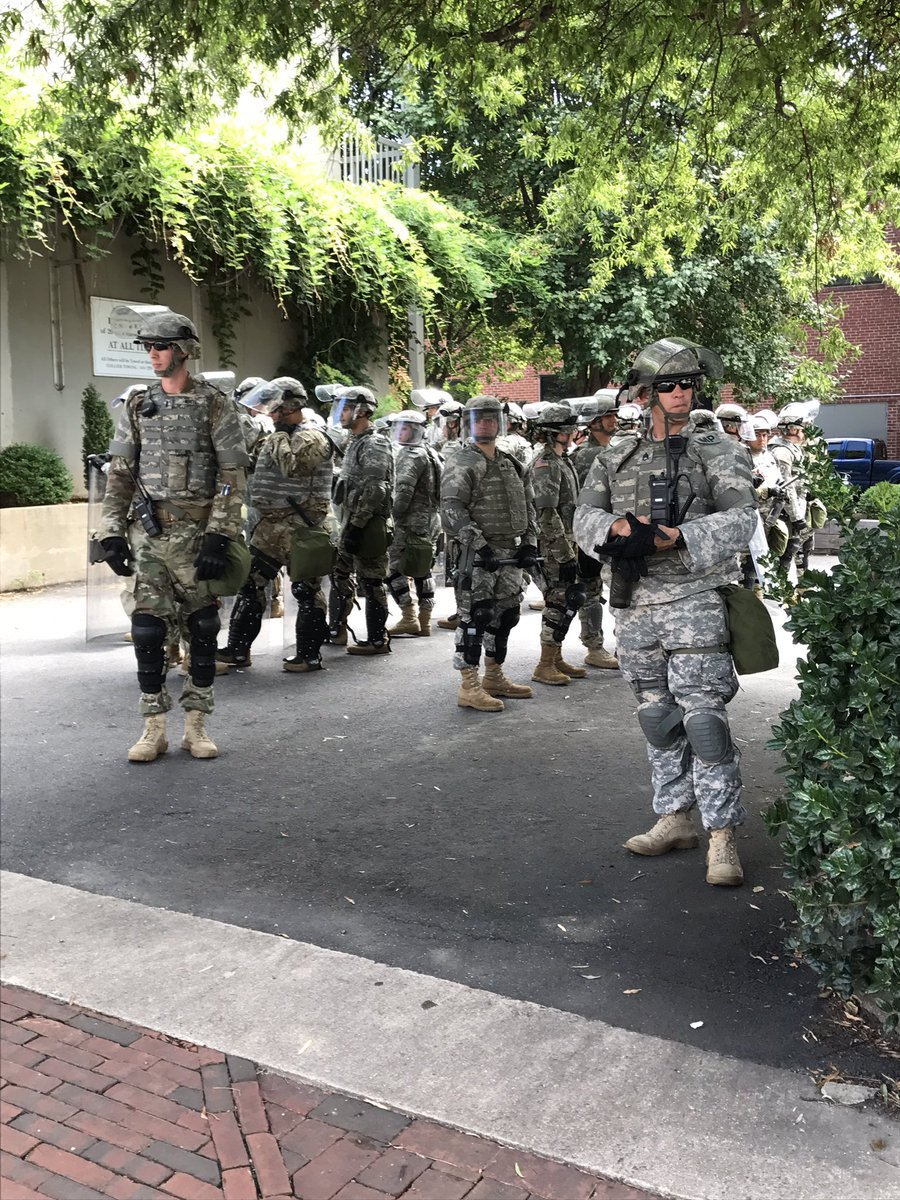 National guard prepares as local emergency as been declared in #Charlottesville for #UniteTheRight https://t.co/KipCK5IHpQ