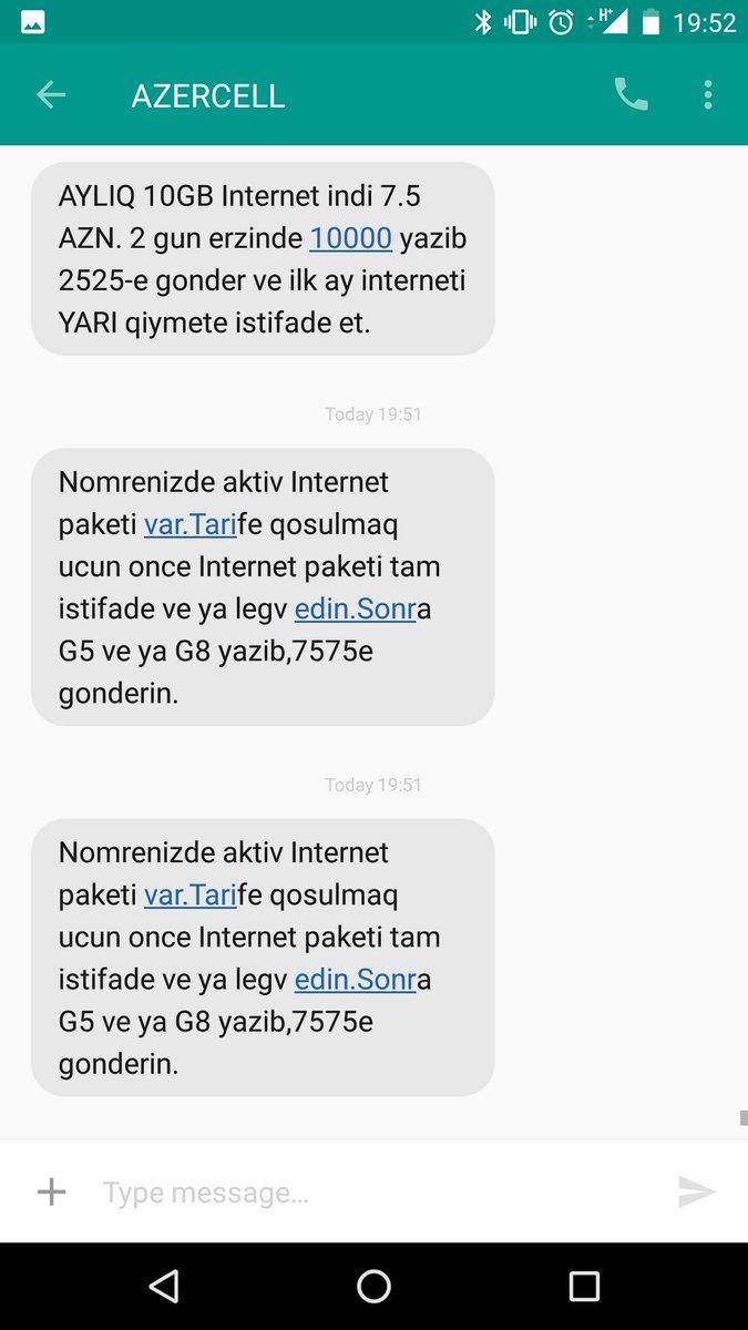 Azercell On Twitter Zdravstvujte Kakoj Paket Na Nomere Narmin