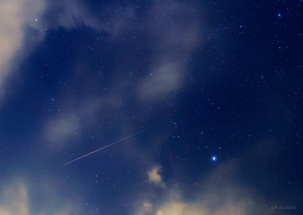 ペルセウス座流星群の流れ星