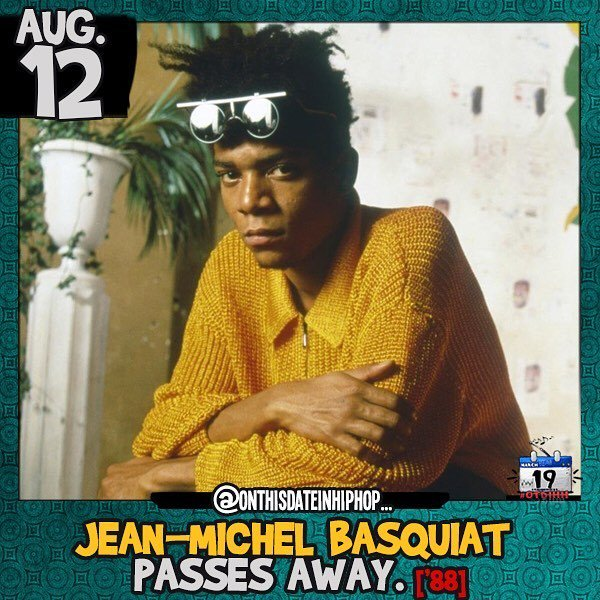 #OnThisDateInHipHop, Jean-Michel #Basquiat died of a heroin overdose at his art studio at the age of 27. The forme…  http:// ift.tt/2vshuMk  &nbsp;  <br>http://pic.twitter.com/TCGFSdvOfg