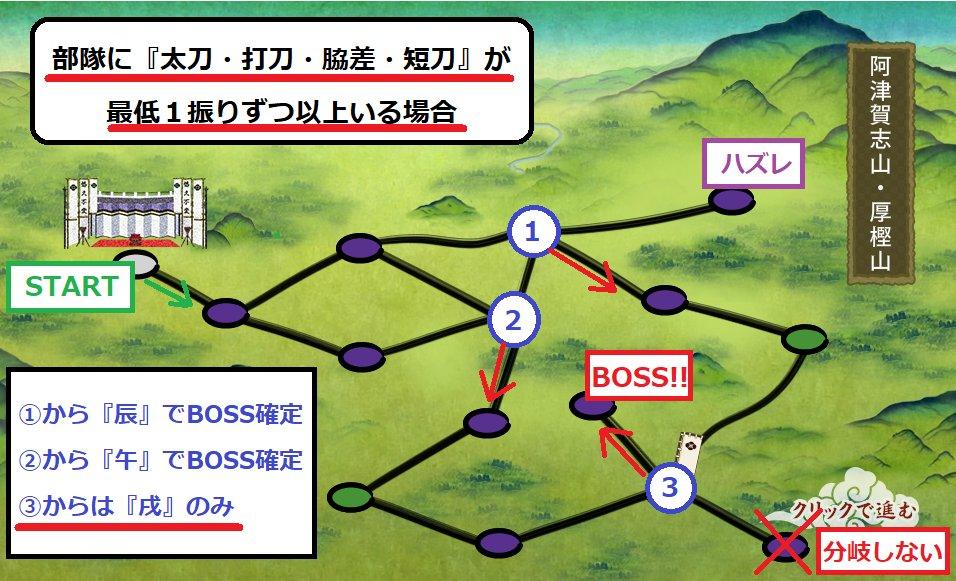 【意外と知られていない厚樫山(5‐4)ボスマス確定編成】 放送でも意外と知らない人が多かったので、少…