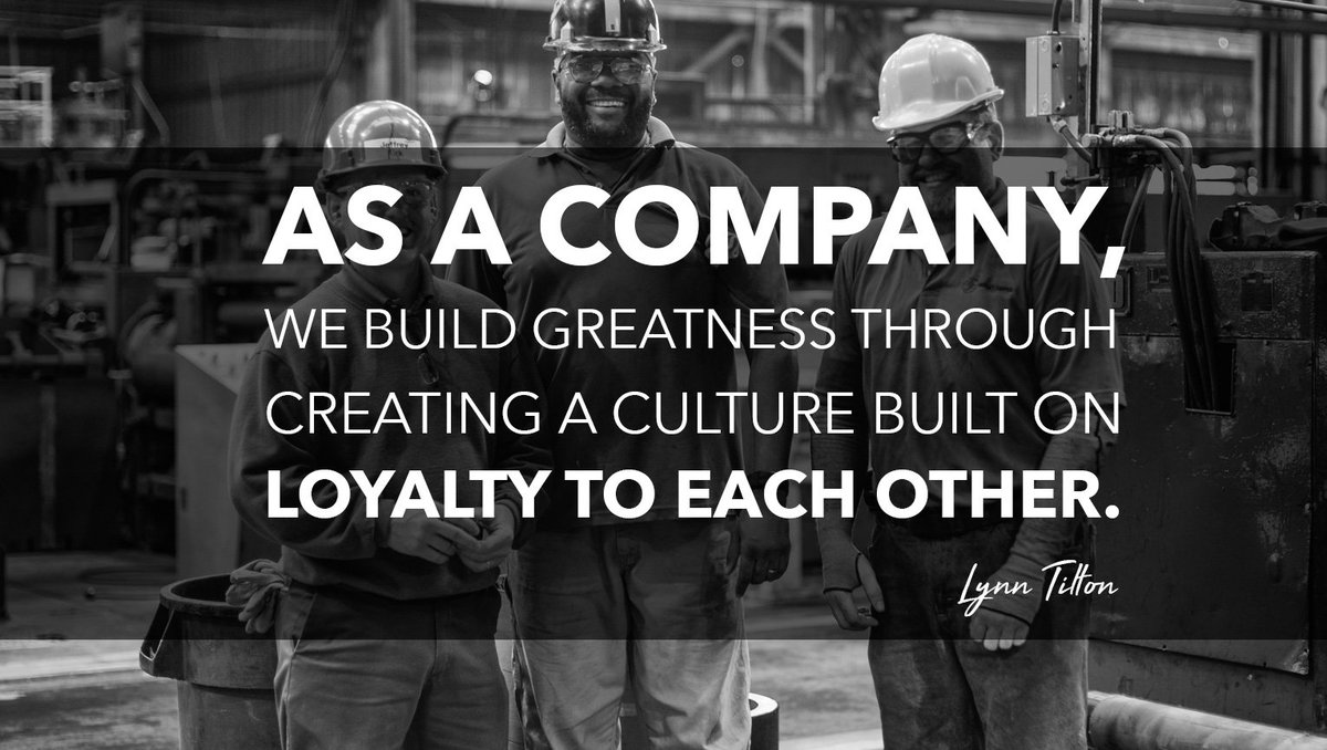 As a #Company we build greatness through creating a culture built on #Loyalty to each other~Lynn Tilton<br>http://pic.twitter.com/uQCwJSesQM