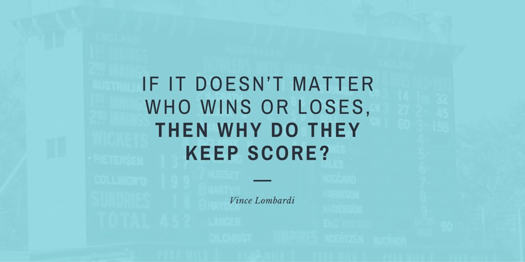 &quot;If it doesn't matter who wins or loses, then why do they keep score?&quot; #VinceLombardi  #quotes #positive<br>http://pic.twitter.com/Njua6Aop39