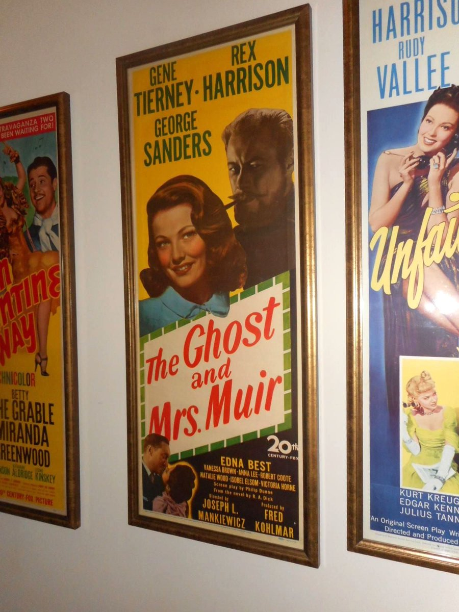 An original #insert #movieposter for The Ghost and Mrs.Muir with Rex Harrison and Gene Tierney, 1947. #StanfordTheatre<br>http://pic.twitter.com/y1PmWmb2Ac