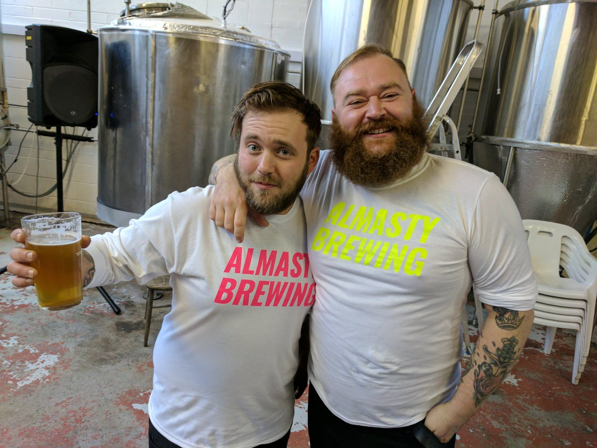 Open day over. The lads from @AnarchyBrewCo clearly enjoyed themselves. #hunks <br>http://pic.twitter.com/U5U61L7qek
