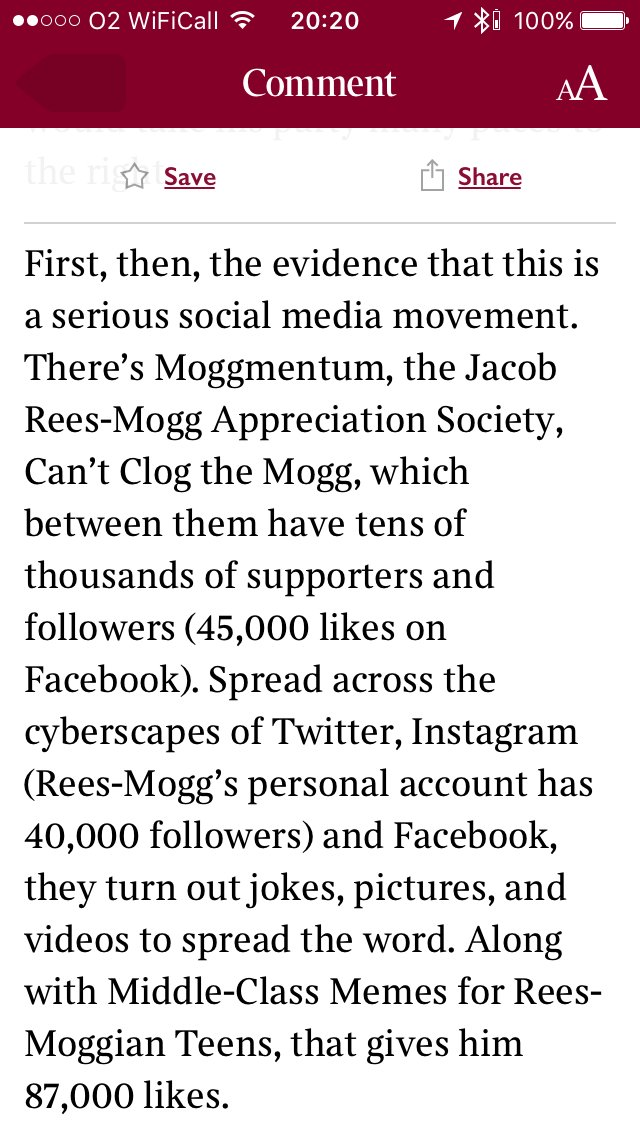 Very hard to read Matthew Parris's concerned piece about Jacob Rees-Mogg without laughing https://t.co/ciMp3CB9ic