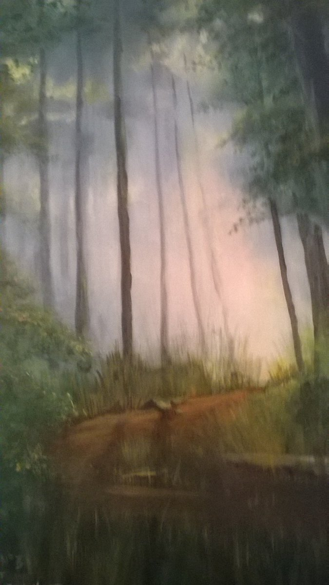 Painted in acrylic...just loved painting this lamdscape #spring #blossom #flowers #beautiful #season #seasons #insta...<br>http://pic.twitter.com/3AwvSWcjB5