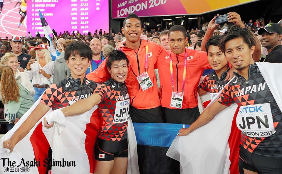 t.asahi.com/nowf #陸上世界選手権 第9日、男子400メートルリレー決勝で日本(多田…