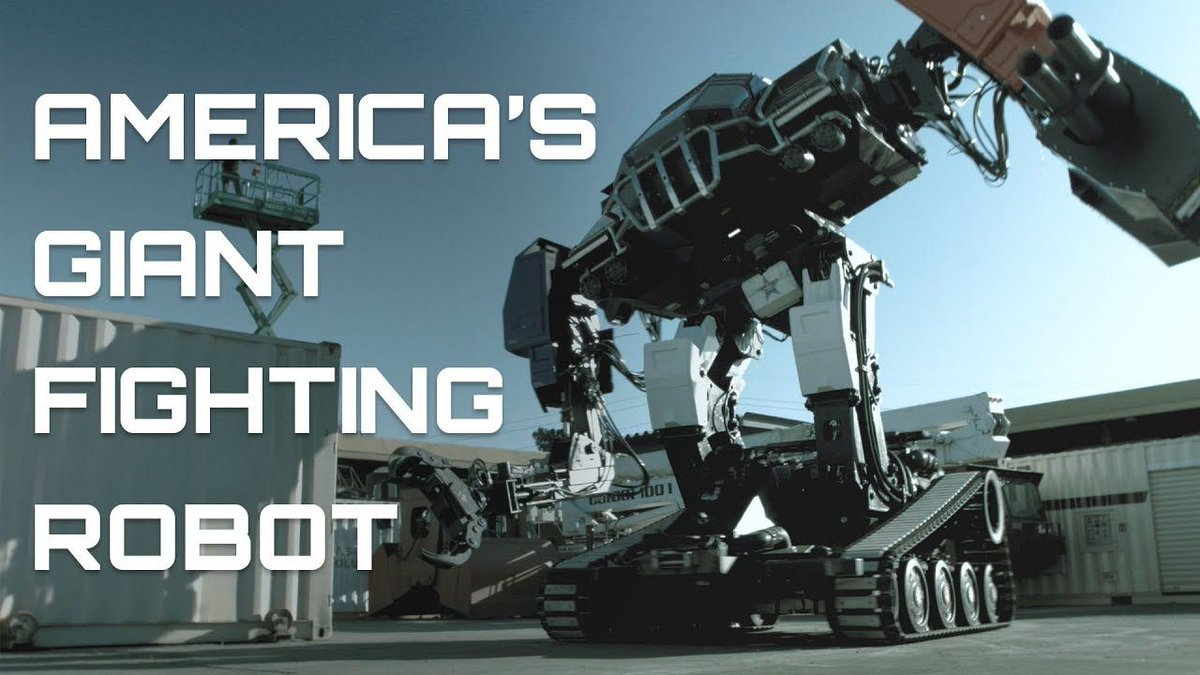 AMERICA'S GIANT FIGHTING ROBOT https://t.co/DEHEJT2o1c