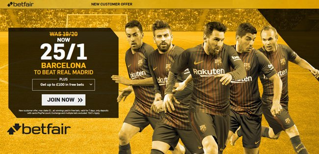 BARGAIN!  25/1 #Barcelona to beat #RealMadrid at Betfair! Risk-free!    http://www. betandskill.com/links/betting/ betfair-odds-9.html &nbsp; …    #FCB #Clasico #betting #Barca #FCBReal<br>http://pic.twitter.com/GIKjJ8hbad