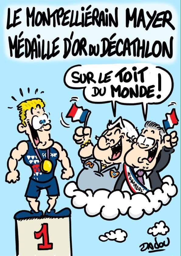 Le montpelliérain Kevin Mayer champion du Monde du décathlon ! Fier de @mayer_decathlon  #Dadou #montpellier #mayer #francepic.twitter.com/vn7hYVYAIr