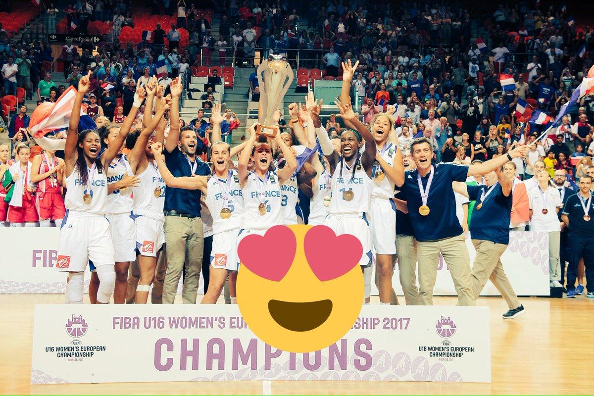 BRAVO à l'#EDF féminine U16 Championne d'Europe !!    #FIBAU16Europe pic.twitter.com/9A4dlIH4da