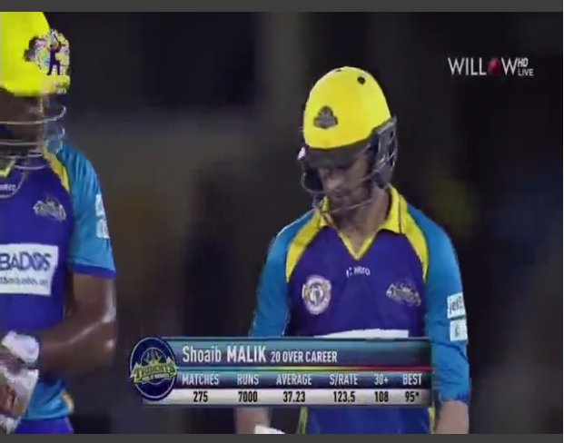 50 up for #MALIK. 7000 T20 RUNS for the #Pakistani All-rounder. Only the 7th Cricketer of World. What a player!  #SooperHaiPakistan  #CPLT20<br>http://pic.twitter.com/sFm83D00WK
