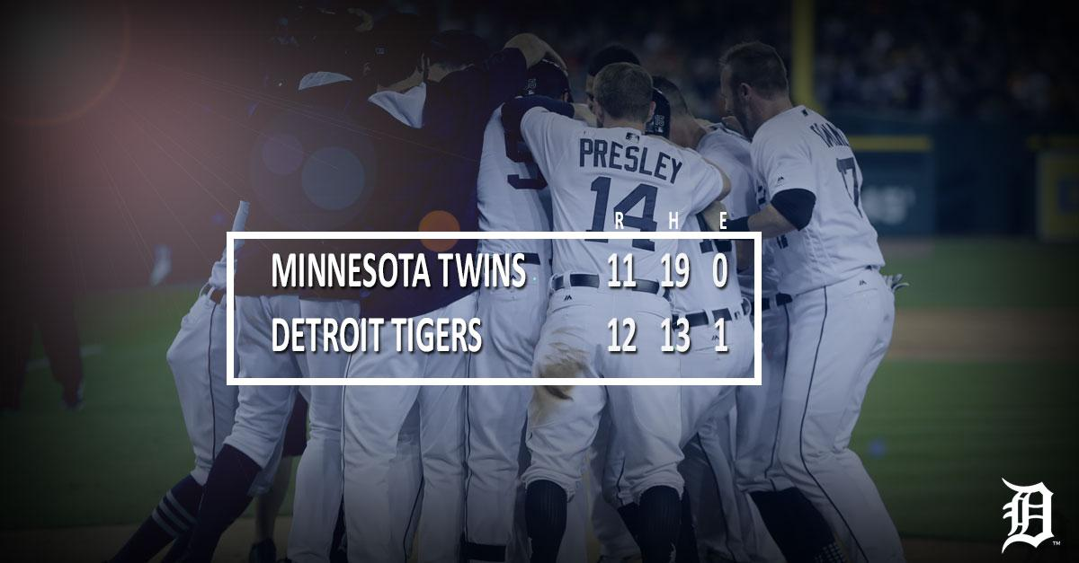 .@JUST_JUP completes #Tigers comeback with #walkoff homer.  RECAP ➡️ h...