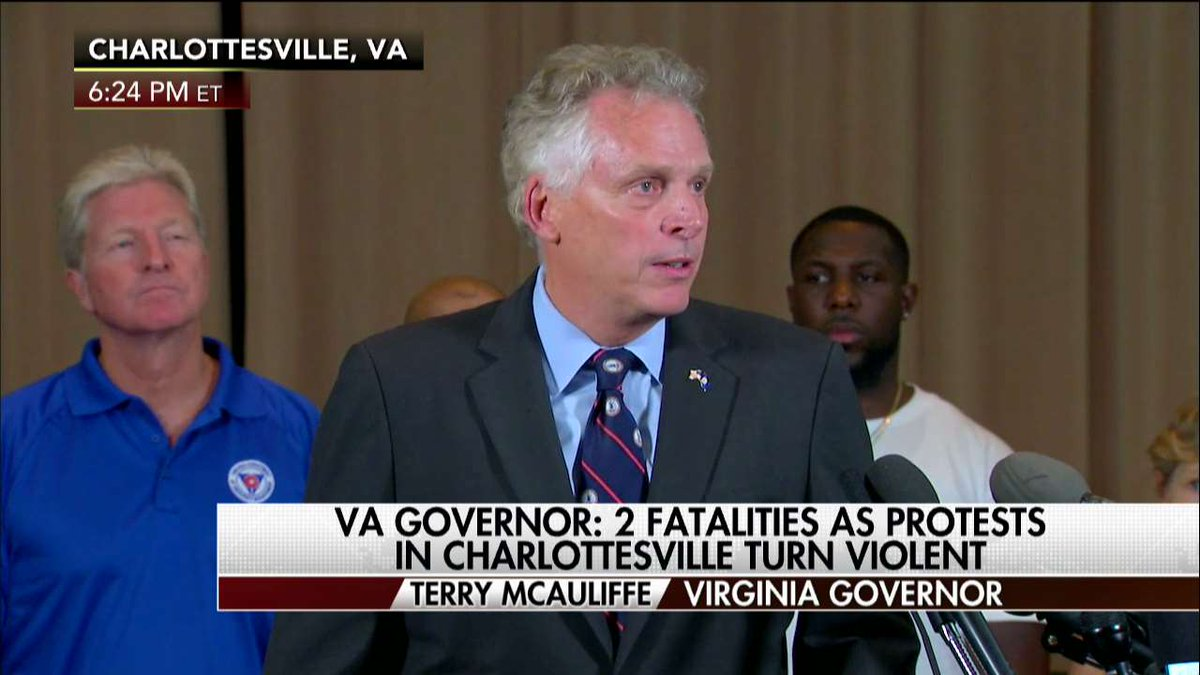 .@GovernorVA to #Charlottesville protesters: 'Go home and never come back. Take your hatred and take your bigotry.'
