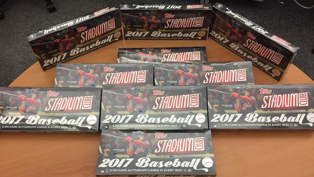 Ten, that's right, TEN @Topps Stadium boxes are being giving away to YOU.  RT for a chance to win. #MLBCards