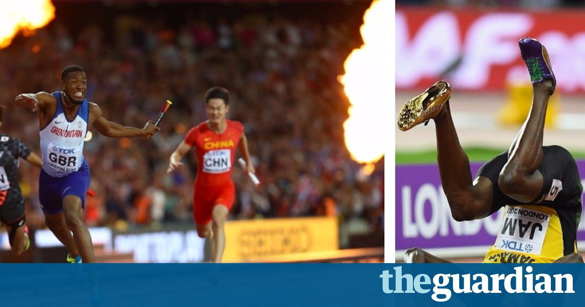 Great Britain seal 4x100m relay gold as Usain Bolt bows out with injur...