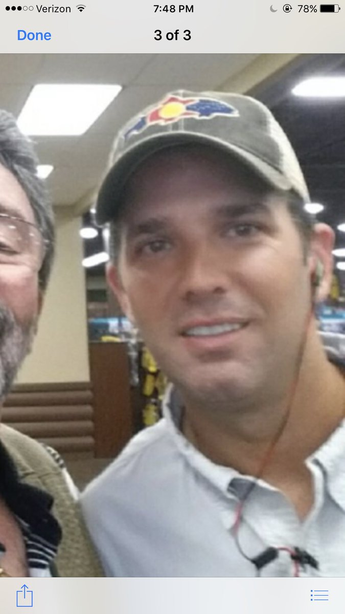 Look who was in middle town today and I missed him! But thanks to Justin I have pic #Donald trump jr pic.twitter.com/SSNHg7kgjc
