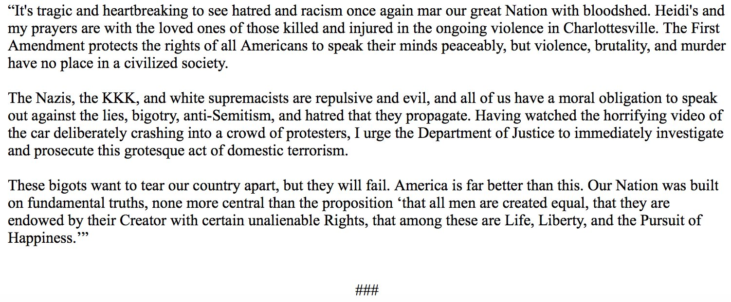 I urge the Department of Justice to immediately investigate and prosecute this grotesque act of domestic terrorism. https://t.co/AwJLsfUEHl