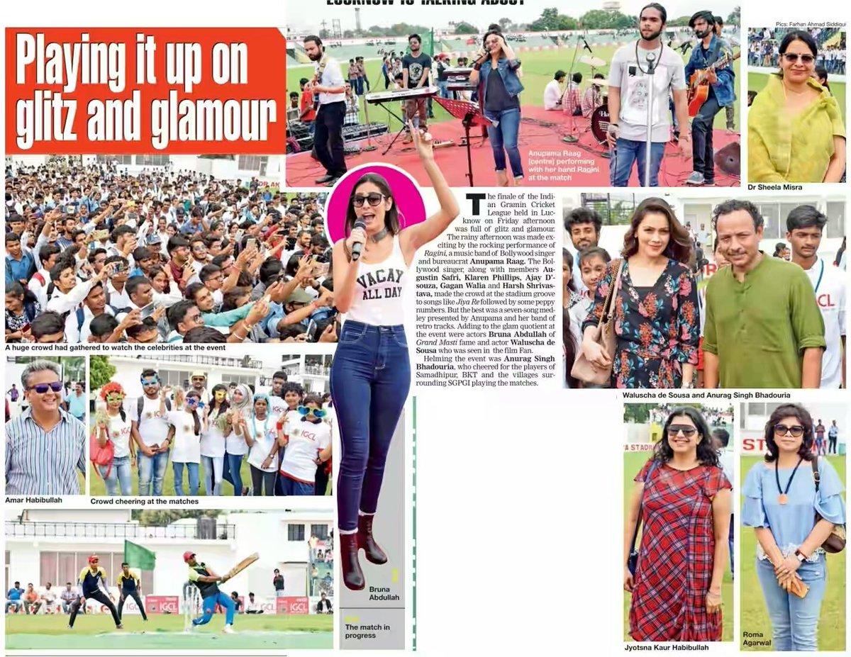 #Playing it up on #Glitz &amp; #Glamour #IGCL #Lucknow #Bollywood #Sports #Cricket #Crowd #Fun<br>http://pic.twitter.com/CjUdpZtqzM