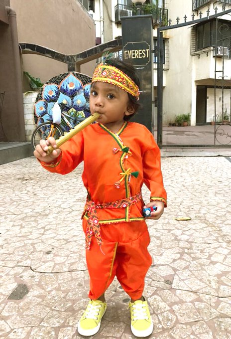 I am glad to the school of my kid . Who gave him an opportunity to play the character of