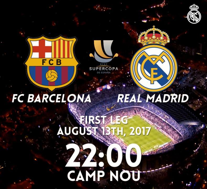 �� ¡DÍA DE PARTIDO! �� �� FC Barcelona �� Supercopa de España �� Camp Nou ⏰ 22h00 #⃣ #RMSupercopa https://t.co/8sW4NSxWyj