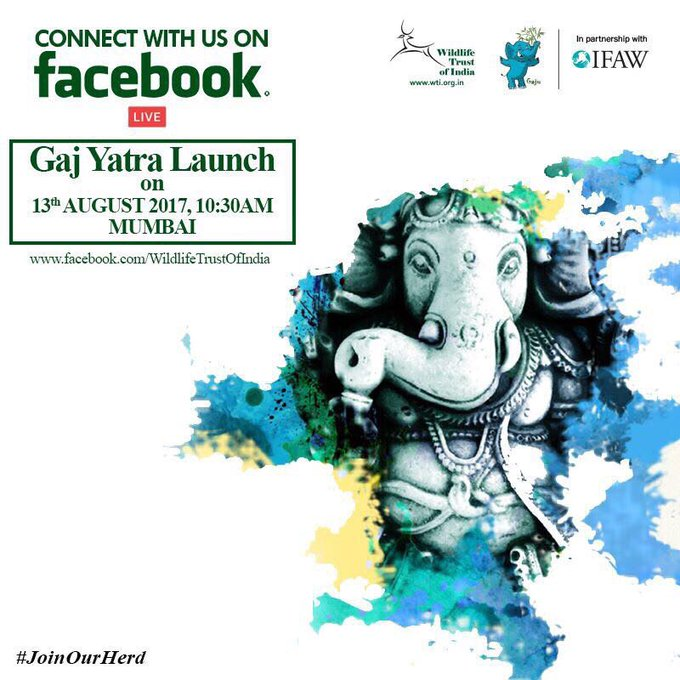 Witness the launch of the #GajYatra in #Mumbai at #SiddhiVinayakTemple LIVE this morning at 10:30am on Facebook. #JoinOurHerd #101Corridors https://t.co/o70mpgqly9